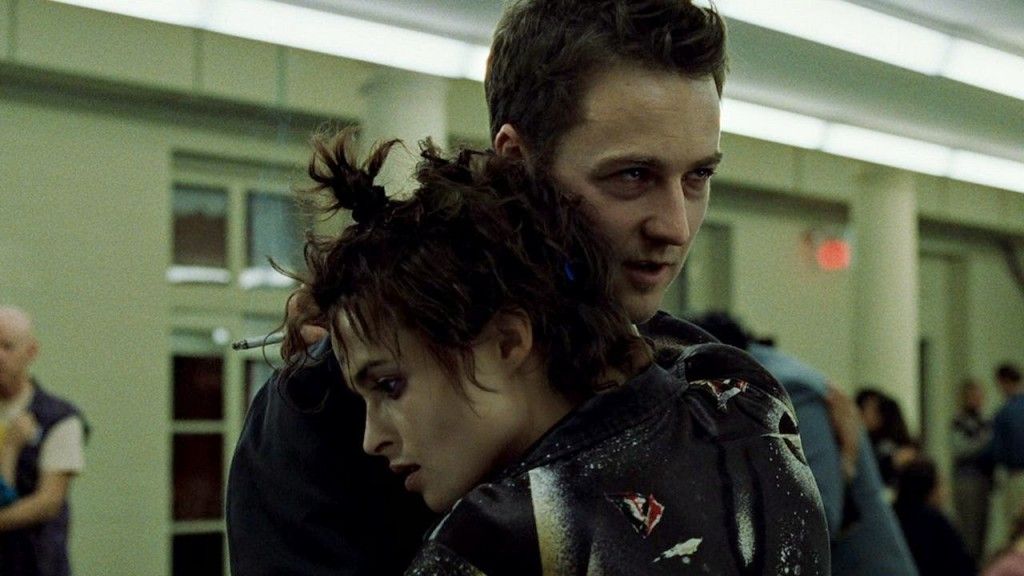 Edward Norton con Helena Bonham Carter in un'Epica Scena in Fight Club