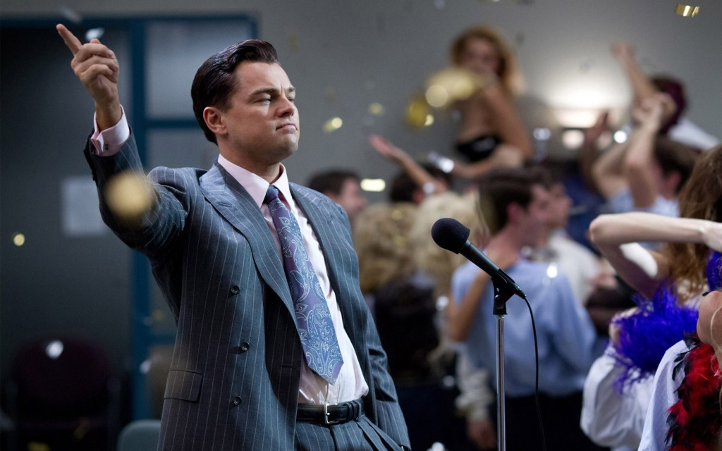 Leonardo di Caprio alias Jordan Belfort in The Wolf of Wall Street